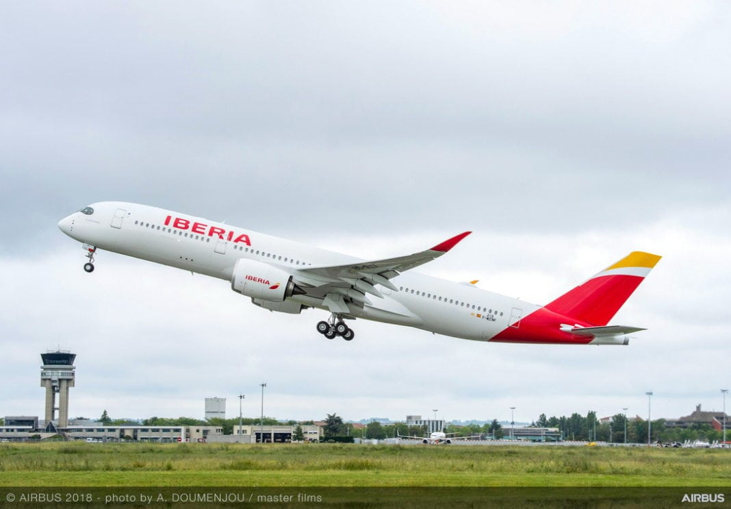 1st-A350-900-Delivery-Iberia-Take-off-