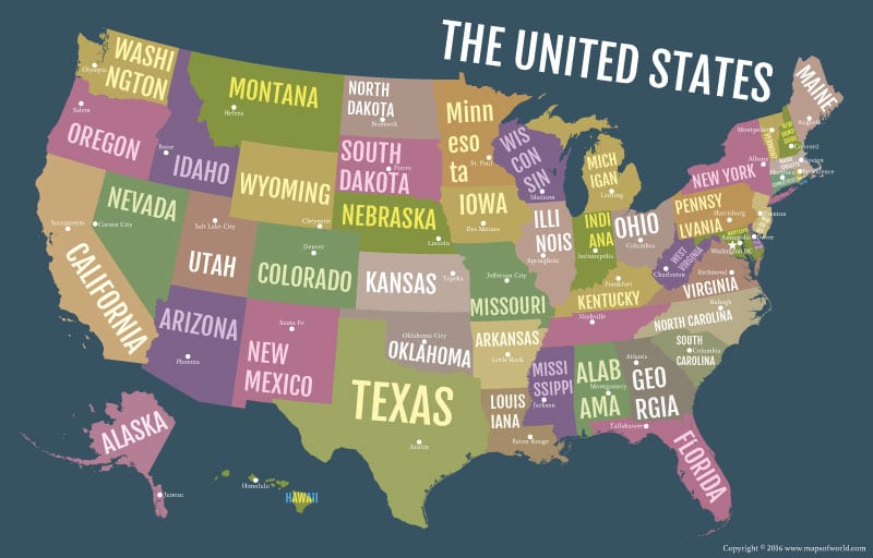 USA-Bold-State-Names-Poster-Map