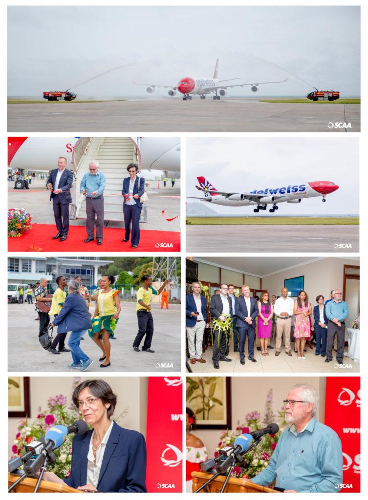 سوئس تفریحی ہوائی اڈ airlineی Edڈیل ویس-ایئر نے اپنے نام سے تیسری نان اسٹاپ یورپین پرواز سے خدمت کرنے والے سیچلز کے نام کو شامل کیا
