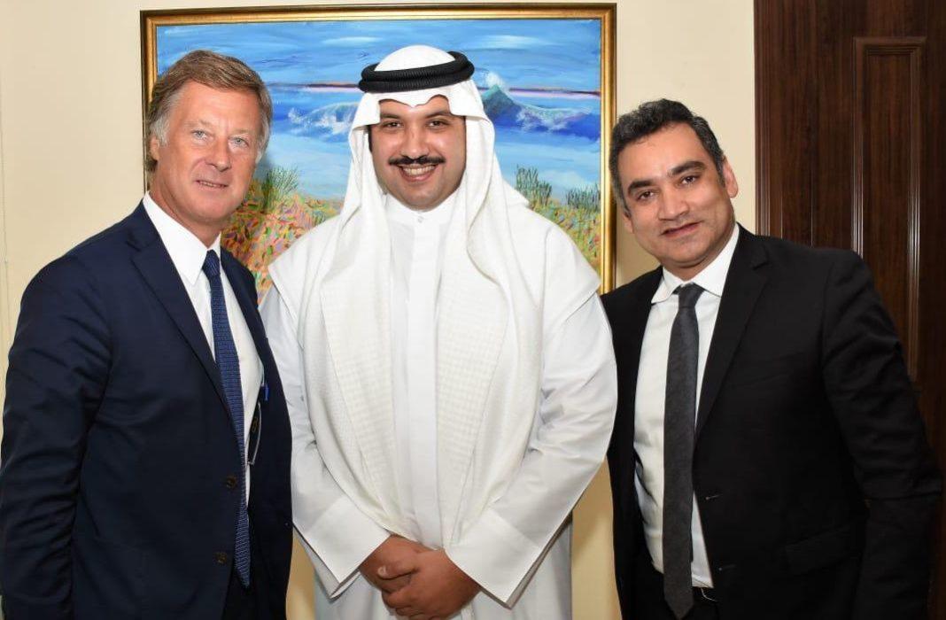 From-Left-Sebastien-Bazin-Sheikh-Mubarak-AM-Al-Sabah-Gaurav-Bhushan-at-Kuwait's-White-Palace