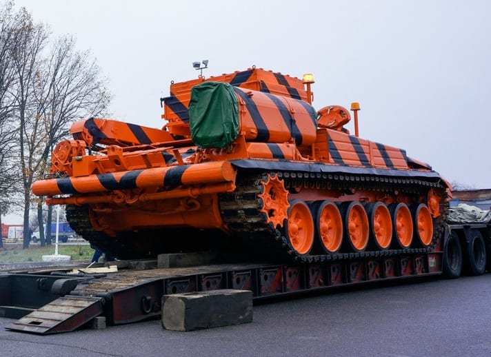 Moscow's Domodedovo airport buys tank to tow aircraft