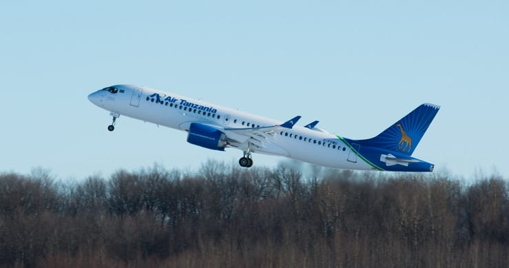 Air Tanzania is first in Africa to receive the Airbus A220