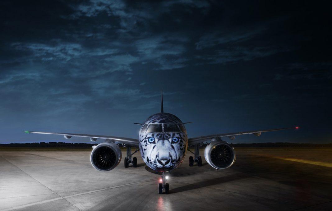 AIR-ASTANA-EMBRAER-E190-E2-SNOW-LEOPARD