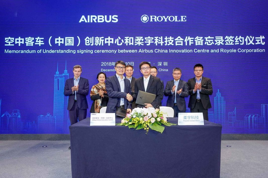 Airbus-and-Royole-Technology-enter-مشارکت-2-