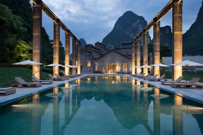Alila-Yangshuo-Pool-Evening