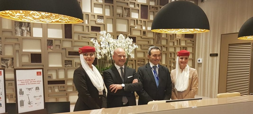 Emirates presents super lounge at Fiumicino Airport