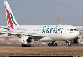 Why a Sri Lankan Airlines A330-200 is parked in Colombo with one engine missing?