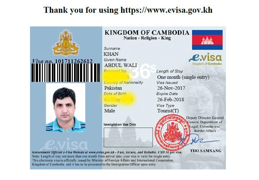 Kambodscha-Visum