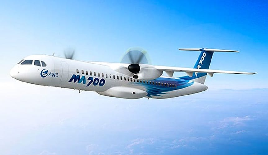 New Chinese MA700 turboprop aircraft will roll off production line in September