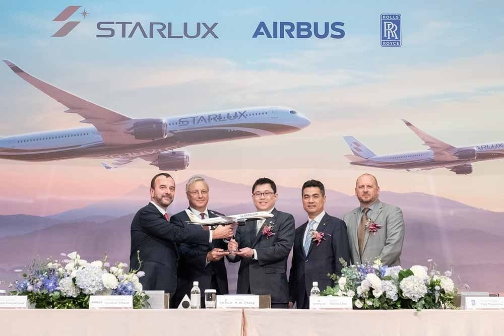 Taiwan's STARLUX Airlines orders 17 Airbus A350 XWB aircraft