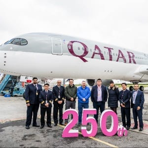 Significant milestone: Qatar Airways takes delivery of its 250th aircraft