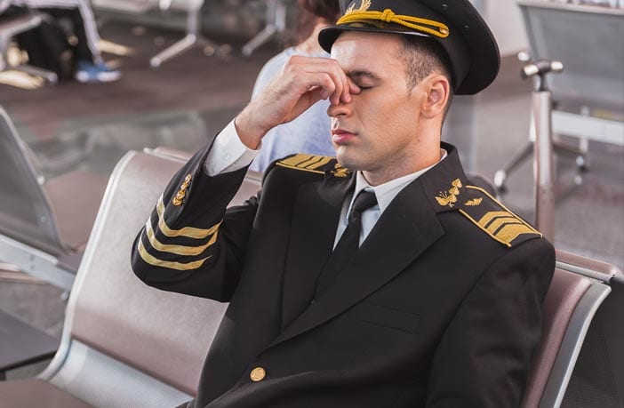 Airline pilots and crew enduring high levels of fatigue