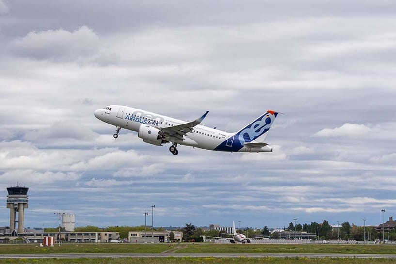 Pratt & Whitney-powered Airbus A319neo makes maiden flight
