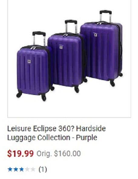 The perplexing search for purplicious luggage and the perils of windmills