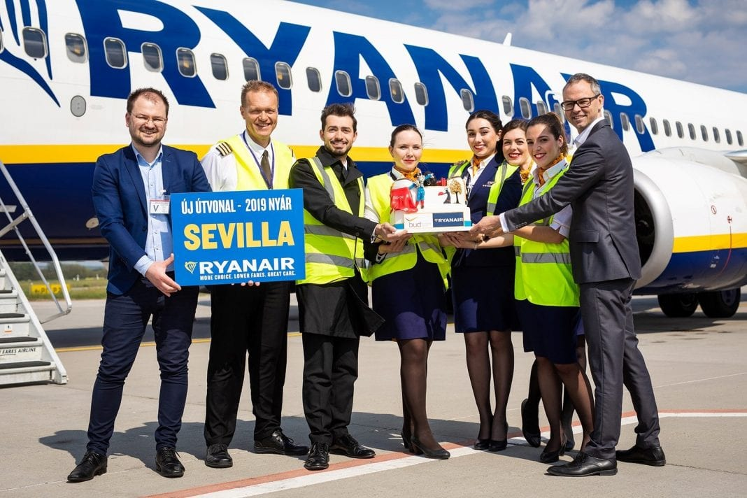 From Budapest to siestas in Seville: Budapest Airport celebrates new Ryanair service