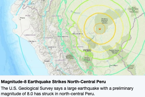 8.0 Earthquake has potential to be devastating in Peru