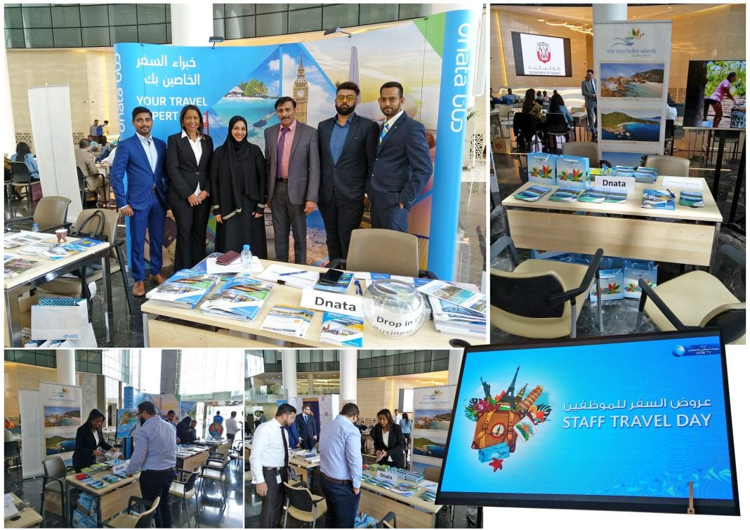 STB-Exponate neben Dnata-Travel-at-the-Abu-Dhabi-Islamic-Bank-Roadshow-UAE