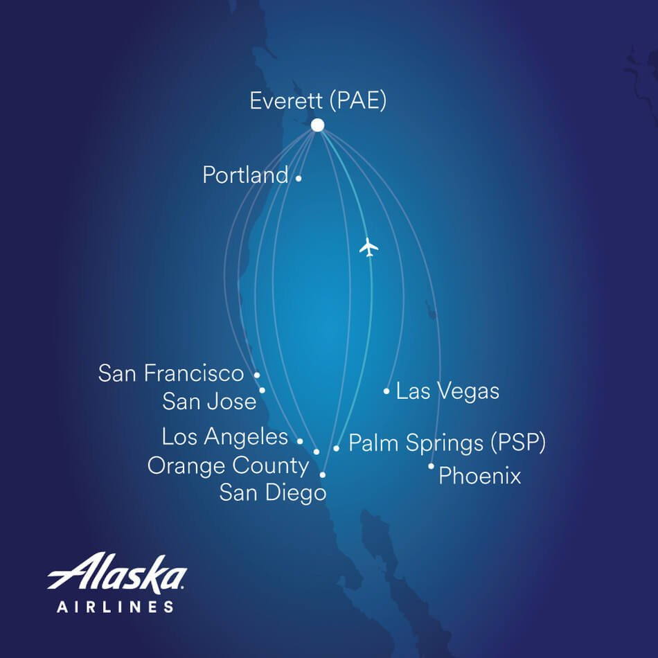 Alaska Airlines adds a top requested destination from Paine Field