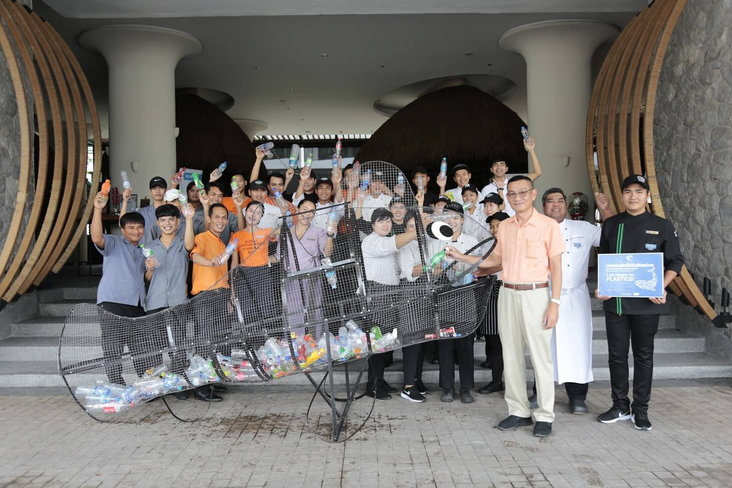 Centara Marks Important Environmental Events with  Beachfront Campaign and Plastic-hungry Sea Life Creatures