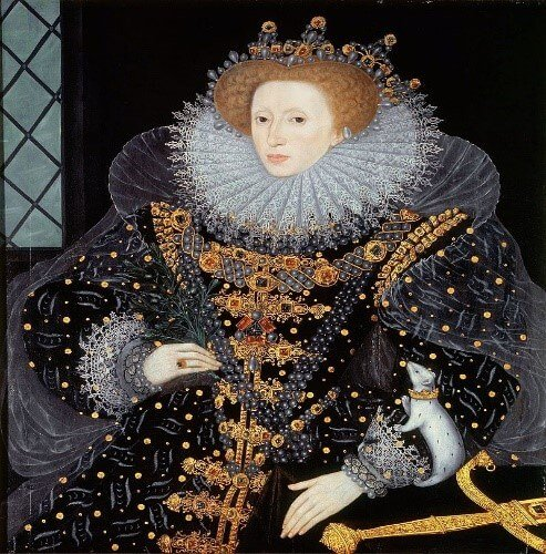 תכשיטים.אופנה .1-Ermine-Portrait-of-Elizabeth-I