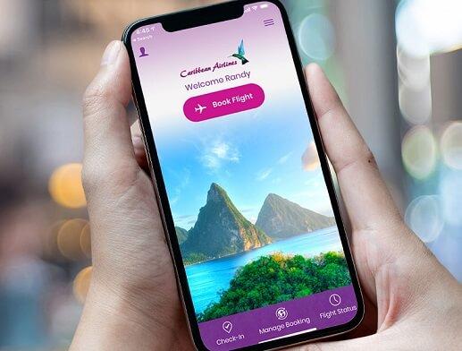 خطوط هوایی کارائیب برنامه موبایل را راه اندازی می کند