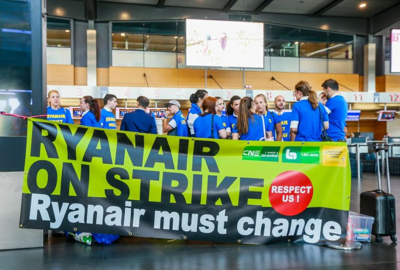 Ryanair under fire for still selling tickets for strike days