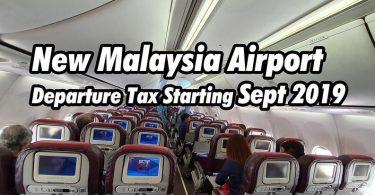 """ماليزيا: تدخل """"ضريبة المغادرة"""" الجديدة للمسافرين في شركة الطيران حيز التنفيذ في 1 سبتمبر"""