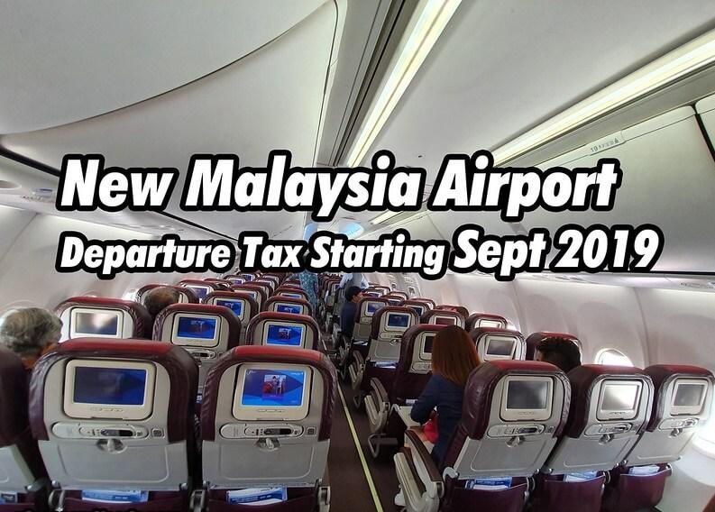 Malesia: Uusi lentomatkustajien lähtövero tulee voimaan 1. syyskuuta