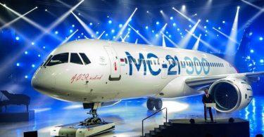 Rosia hampiseho ny fiaramanidina mpandeha MC-21-300 ao amin'ny Salon International Aviation and Space Salon ao Moskoa