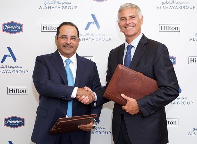 ヒルトンとアルシャヤグループが70か国でXNUMXのハンプトンバイヒルトンホテルを立ち上げる