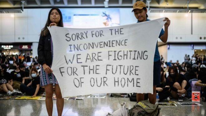 हांगकांग उच्च न्यायालय ने प्रदर्शनकारियों को एचके हवाई अड्डे को फिर से खोलने का आदेश दिया
