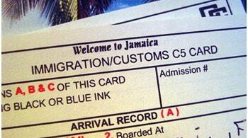 Μετανάστευση της Τζαμάικα: Διαδικτυακή μετανάστευση και τελωνειακή δήλωση