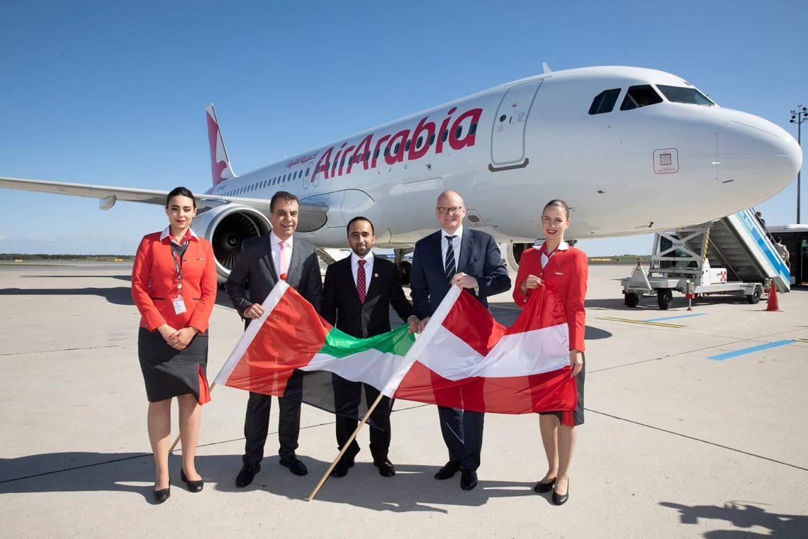 Penerbangan perdana Air Arabia mendarat di Bandara Internasional Wina
