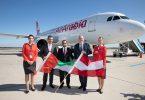 Balafira destpêkê ya Air Arabia li Balafirgeha Navneteweyî ya Viyanayê dadikeve