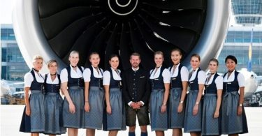 세계 최대 규모의 옥토버 페스트 : 역대 최대 규모의 'Trachten'승무원이 참여하는 루프트 한자 항공편