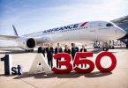 एयर फ्रांस अपने पहले एयरबस A350 XWB की डिलीवरी लेता है