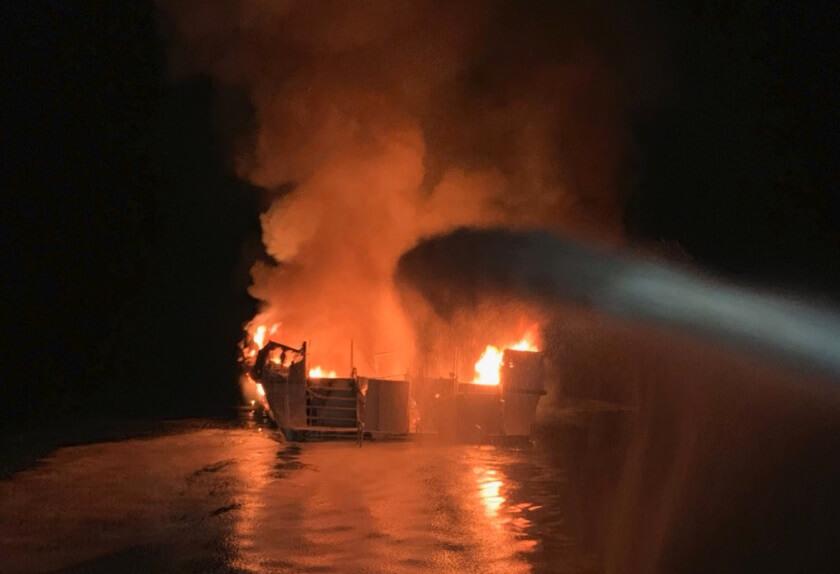 34 feared dead in massive fire on scuba diving boat off California coast