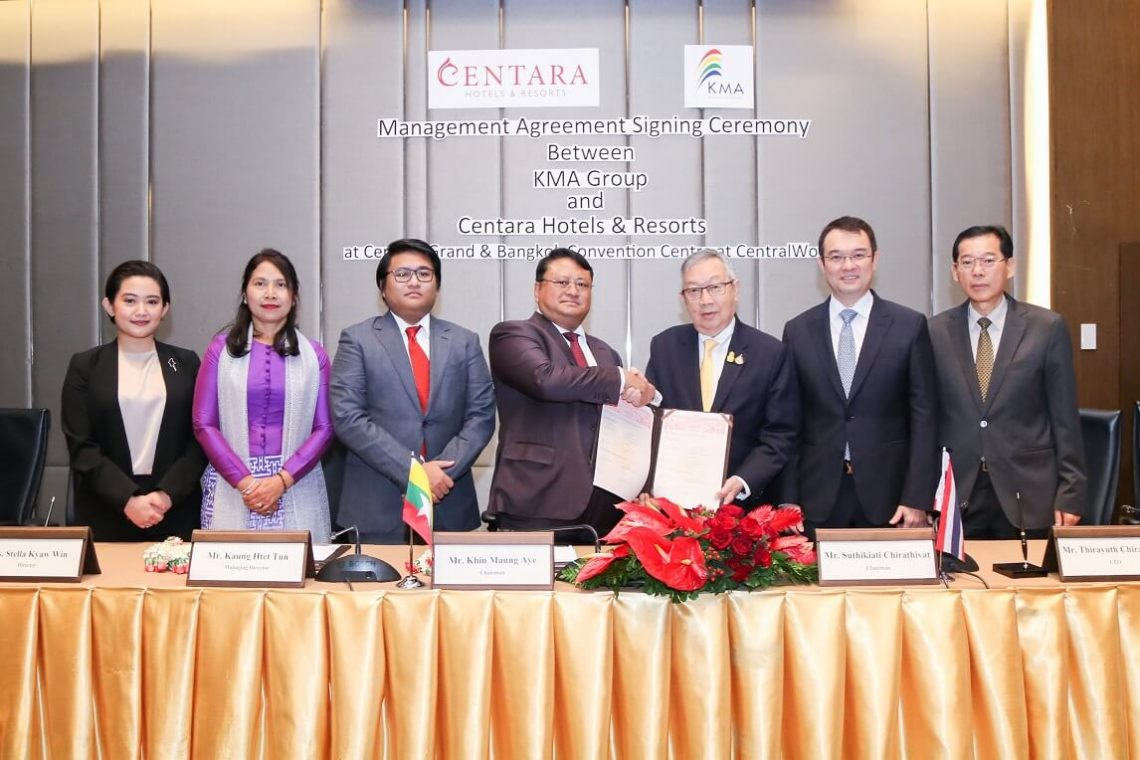 Centara ja KMA Group allekirjoittavat HMA: n uudelle Myanmar-lomakeskukselle