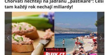 Čeští turisté zůstávají v levných hotelech v Chorvatsku