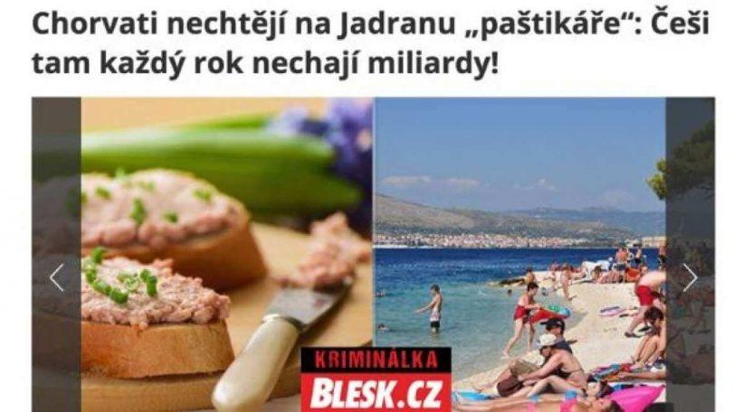 Tschechische Touristen übernachten in günstigen Hotels in Kroatien