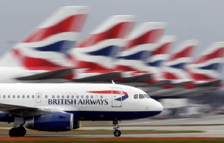 British Airways- ի չվերթները գրեթե 100% -ով ցամաքային են