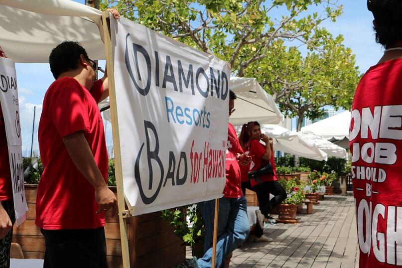 Радници хотела на Хавајима обележавају Празник рада акцијом против хотела Диамонд Ресортс