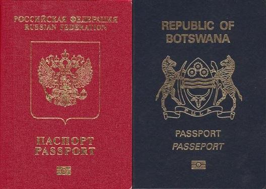 Rusland og Botswana bliver visumfri den 8. oktober