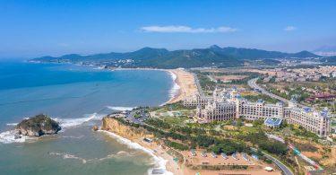 Zunehmend pluralistischer Dalian Golden Pebble Beach wird von Touristen bevorzugt