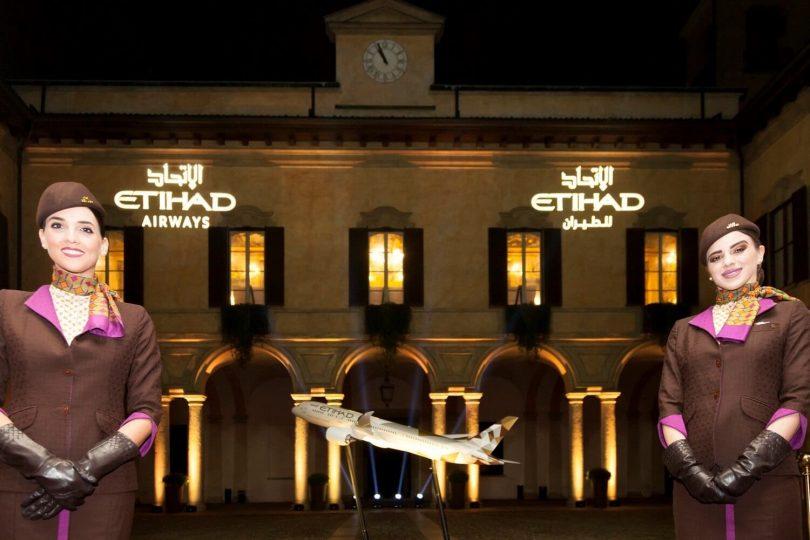 Etihad er vært for eksklusiv begivenhed for at markere Boeing 787-9 Dreamliner Milan-service