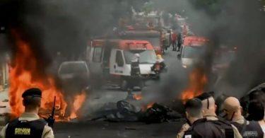Flyet styrter ned i travlt kryds i Brasilien og dræber mindst tre mennesker