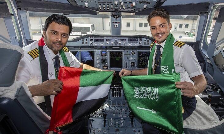 Etihad Airways und Saudia kündigen 12 neue Codeshare-Strecken an