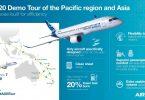Airbus поема A220 в обиколката на тихоокеанския регион