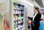 Der neue Verkaufsautomat in der Abflughalle C des Frankfurter Flughafens bietet Lebensmittel, die den jüdischen Ernährungsgesetzen entsprechen