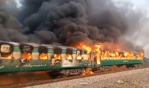 73 passengers killed in Pakistan train inferno